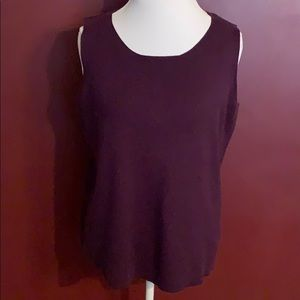 August Max sleeveless sweater